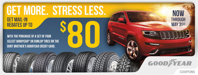 Goodyear - Up to $80 Mail-in Rebate