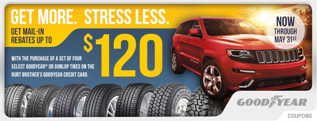 Goodyear - Up to $120 Mail-in Rebate