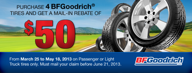 BFGoodrich - $50 Mail-in Rebate