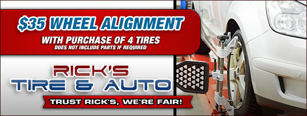 $35 Wheel Alignment