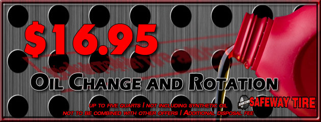 Oil Change and Rotation for $16.95
