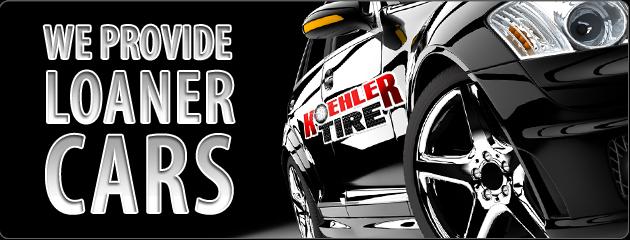 Koehler Tire Provides Loaner Cars