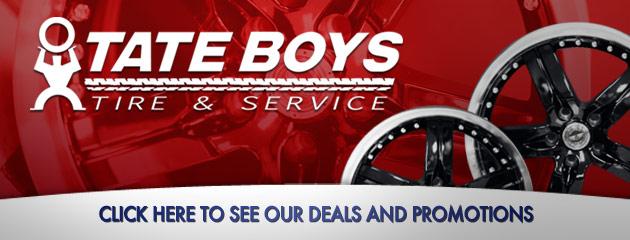 Tate Boys Tire and Service Savings