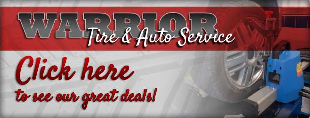 Warrior Tire and Auto Service Savings