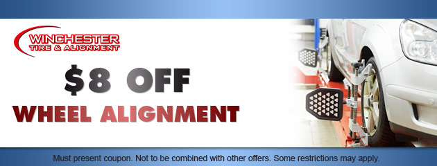 $8 OFF Wheel Alignment