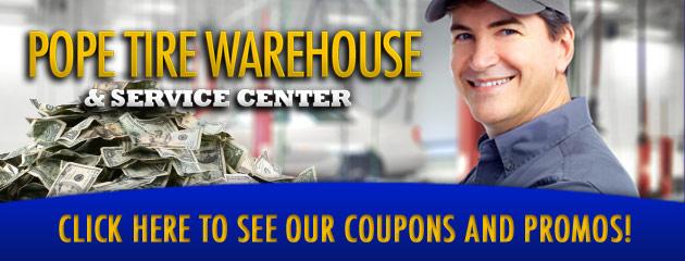 Pope Tire Warehouse Savings