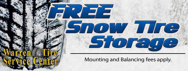 Free Snow Tire Storage
