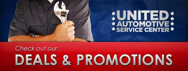 United Automotive Service Center Savings
