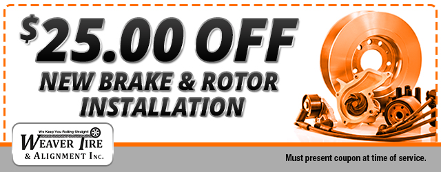$25 off brake and rotor installation