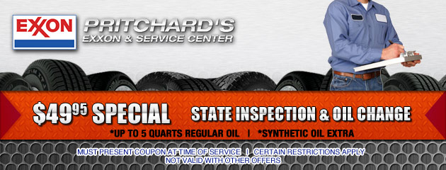 SPECIAL State Inspection and Oil Change