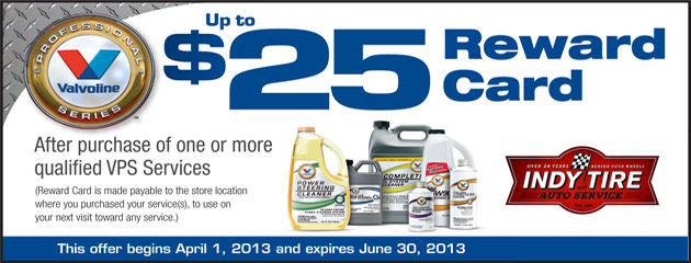 Valvoline - $25 Reward Card
