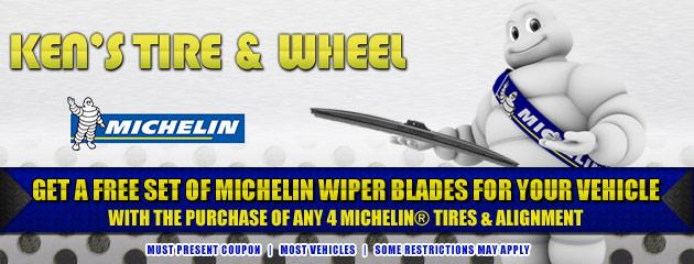 Buy 4 Michelin Tires Get Free Wiper Blades