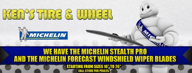 We Have Michelin Wiper Blades Slider