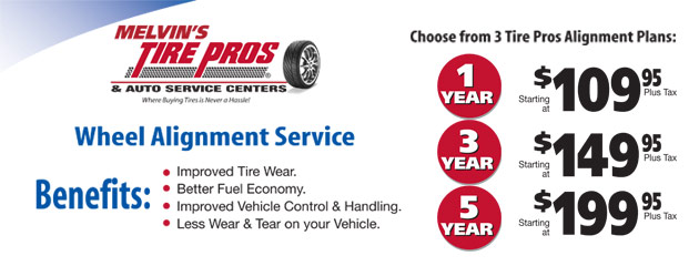 Tire Pros Alignment Plan