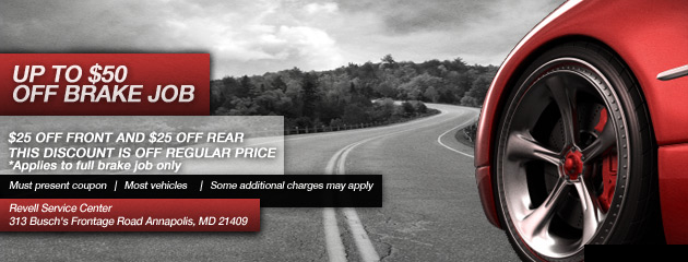 Up to $50 Off Any Brake Job