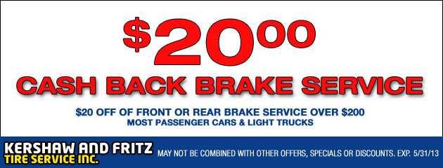 Cash Back Brake Service