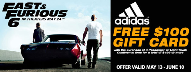 Continental Fast and Furious 6 Promotion