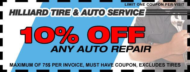 10 Percent off Any Auto Repair