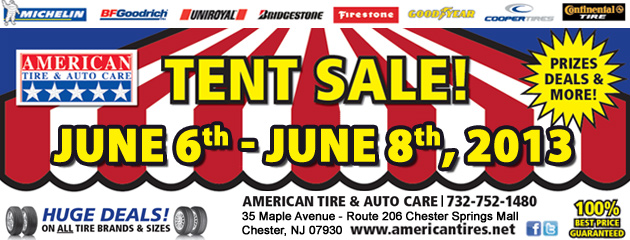 Tent Sale 2013!