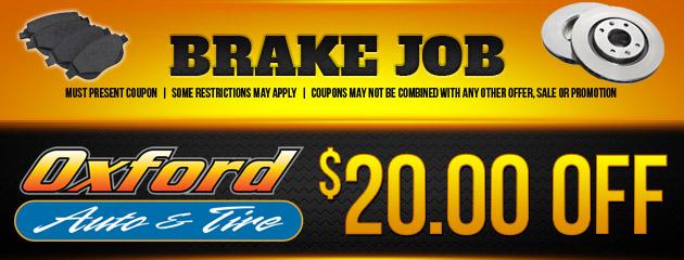$20 Off Brake Job