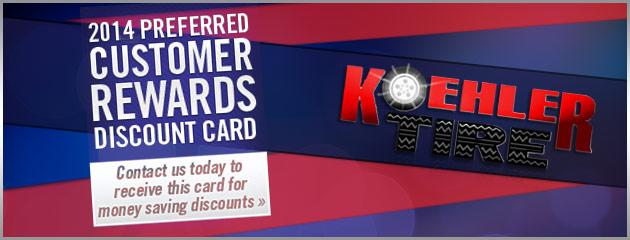 Customer Rewards Discount Card