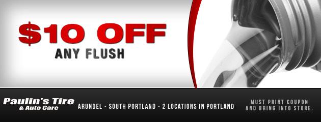 $10 off any flush