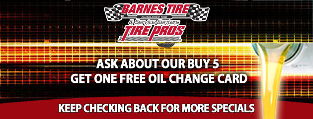 Buy 5 Get One Free Oil Change Card