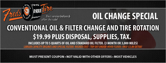 Oil Change Special 1