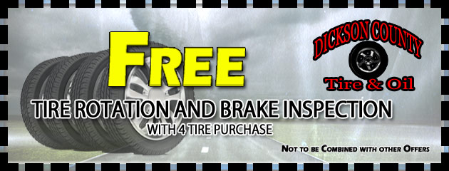 Free Tire Rotation & Brake Inspection with 4 Tire Purchase