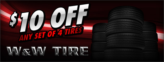 $10 OFF 4 Tires