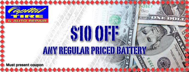 $10 OFF Regular Priced Battery