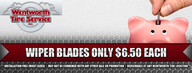 $6.50 Wiper Blades
