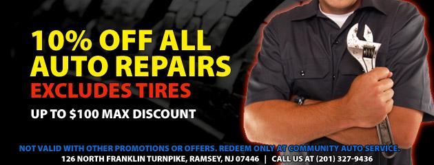 10% OFF Auto Repairs