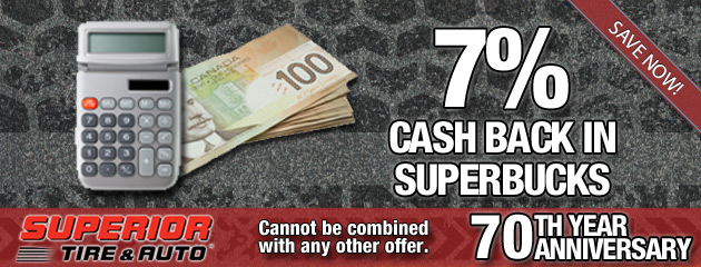 7 Percent Cash Back in SuperBucks