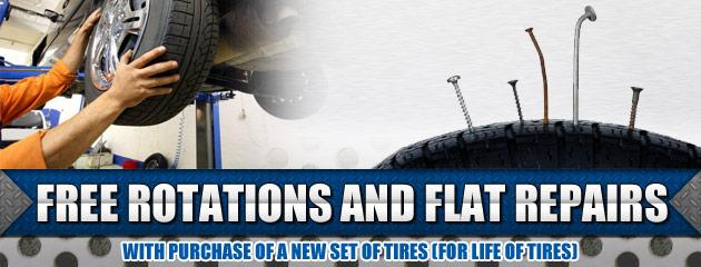 Free Rotation and Flat Repairs