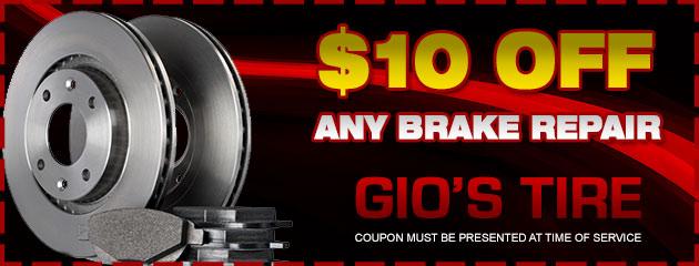 $10 off any brake repair