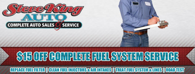 $15 OFF Complete Fuel System Service