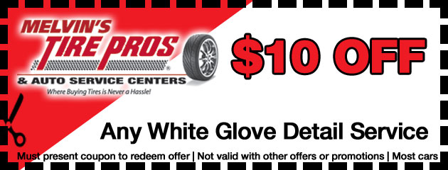 $10 Off White Glove Detailing