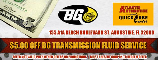 $5 Off BG Transmission Flush