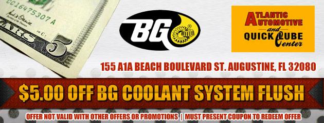 $5 Off Coolant System Flush