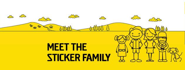 Meet The Sticker Family