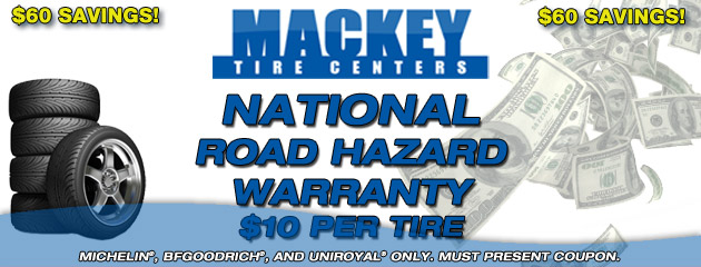 Mackey National Road Hazard Warranty