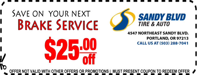 Save on next brake service