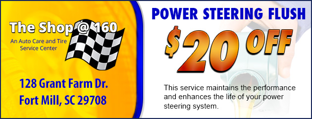 $20 Off Power Steering Flush