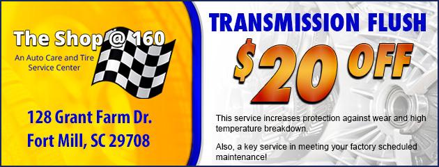 $20 Off Transmission Flush