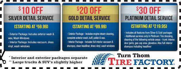 Detailing Services - Silver, Gold, Platinum