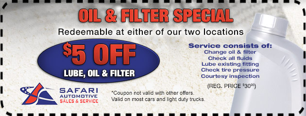Oil Filter Special