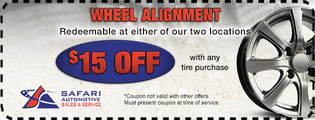 Wheels Alignment with Tire Purchase
