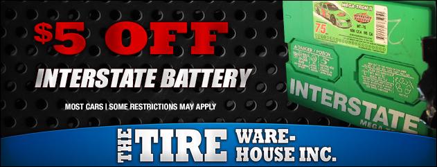 $5 Off Interstate Batteries