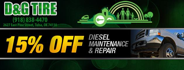 15% Off Diesel Maint Repair